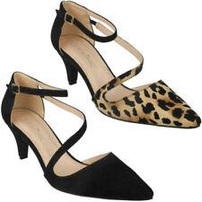 Zapatos de tacón de mujer textiles de leopardo