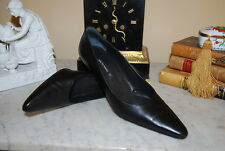 BRUNO MAGLI ITALY BLACK LEATHER CLASSIC WOMEN'S HEEL PUMP SHOES SIZE 8 1/2 AA