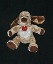 Peluche doudou chien TRUDI beige brun marron blanc yeux durs 25 cm TTBE