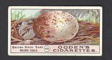 OGDENS - BIRDS EGGS - #43 GOLDEN EAGLE