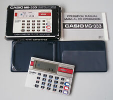 Rare & Collectible Casio MG-333 Handheld Game & LCD Electronic Calculator Boxed