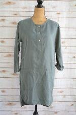 NWT Gap - KHAKI green long sleeve lyocell shift TUNIC shirt dress, XS (defect)