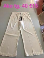 Ake Pantaloni Donna Tg 40 bianchi, Nuovi Con Cartellino