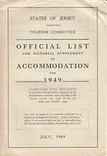 Official List and Pictorial Supplement of Accomodation for July 1949 Jersey UK