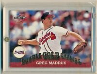 1995 Pinnacle Double GOLD Champs GC6 Greg Maddux Atlanta Braves HOF