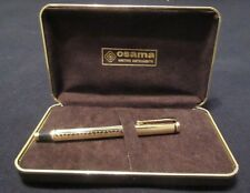 OSAMA WRITING INSTRUMENT. IRIDIUM POINT FOUNTAIN PEN. WITH CASE AND INK. 1980'S.