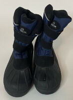 Boys Magellan Snow Boots Winter Boots Size 3 Black And Blue With 3M Thinsulate