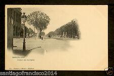 1303.-BARCELONA -259 Paseo de Pujadas (Hauser y Menet) Postal sin división