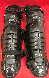 ONE PAIR RAWLINGS Softball Baseball Catcher's Gear Umpire Shin Guards Good Cond.