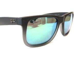 Ray Ban RB4165 Justin 601/8G Unisex Black Rubberized Sunglasses Frames 54/16~140