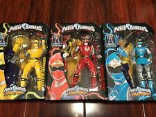 "LOT OF 3X ""NINJA STORM"" RED POWER RANGERS LEGACY 6"" Action Figures & MEGAZORD"