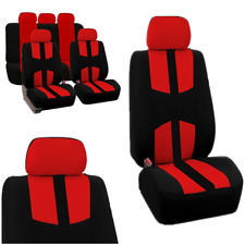 9 Pcs Red Sports Car Accessories Protector Seat Cover Fits Most Brand Vehicles
