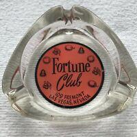 Rare 1950s Casino Ashtray Fortune Club 109 Fremont Downtown Las Vegas Nevada