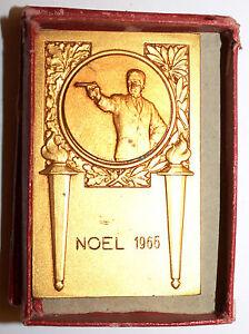 Medal Recatngulaire IN Box Tir Christmas 1966 (35)