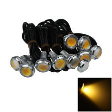 10x Amber Motor Eagle Eye Headlights Lamp Turn Signal Light 23MM 1 COB LED O503
