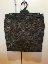 NEW WITHOUT TAGS WITCHERY ANIMAL PRINT SKIRT SIZE M