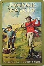 Johnnie Walker Whisky Golfer embossed sign  (hi 3020)