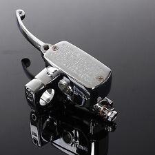 "1"" MOTORCYCLE HYDRAULIC BRAKE MASTER CYLINDER RESERVOIR LEFT HONDA YAMAHA SUZUKI"