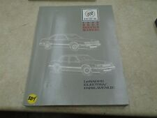 Buick Body Service Manual LaSabre Electra Park Avenue VP 1989 VP-CM384