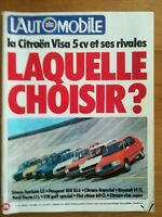 L'AUTOMOBILE N°389 1978 CITROEN VISA SIMCA HORIZON PEUGEOT 104 R14 FIESTA GOLF