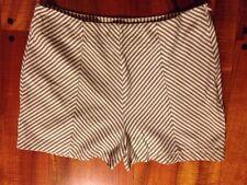 Costa Blanca Medium Grey White Chevron stripe high waist short Retail Price $64