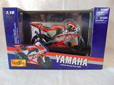 1/18 Maisto Moto GP 2004 Yamaha YZF-M1 Rider Carlos Checa