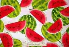 Watermelon Fruit Fabric ~ 100% Cotton  ~ Timeless Treasures C7721  15 Inches