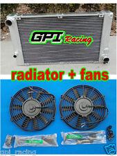 ALUMINUM ALLOY RADIATOR FOR  PORSCHE 944 2.5L TURBO;S2 3.0L M/T 1985-1991 + fans