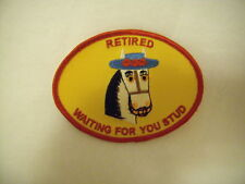 New Women Light Horse Retired Waiting4U Stud Gold Patch