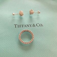 New. Tiffany & Co. Somerset Set Ring And Love Knot Earings.