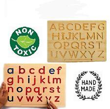 Montessori Print Alphabet Letters Tracing Board REVERSIBLE BOARD - NO COLOR