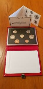ROYAL MINT PROOF SET. Red Deluxe Leather Box 1988 Birthday Gift Coin Year Set.