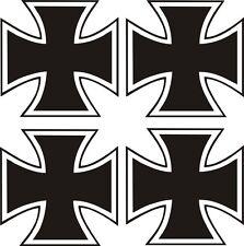 4 x Eisernes Kreuz Aufkleber 5x5cm Sticker IRON CROSS Kreutz Auto Tuning Bike ,.