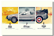 A3 Size - Back To The Future 1 2 3 MOVIE GIFT / WALL DECOR ART PRINT POSTER