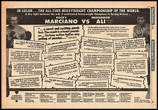 "MUHAMMAD ALI_vs_ROCKY MARCIANO__Original 1970 ""Super Fight"" print AD / poster"