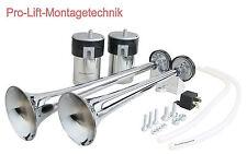 24v Drucklufthorn Doppelfanfare 2 Kompressoren 385mm Nebelhorn Signalhorn 02086