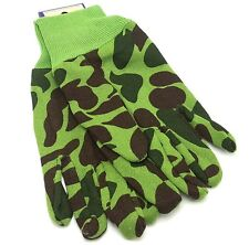 Green Camo Gloves Utility Work Hunting Winter Garden Adult Camouflage Sportsman