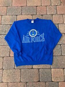 VINTAGE Air Force Sweatshirt Adult Medium Blue USA Military Patriotic Logo