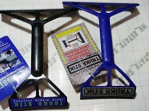 2x TRUKR STIK SQUEEGEEs black blue trucker stick squeegee glass mirror wipe tool