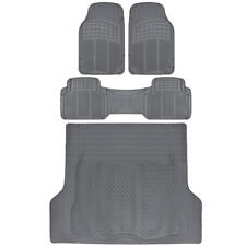4pc Gray Heavy Duty Floor Mats Cargo Liner Utility Pads Set - HD All Weather