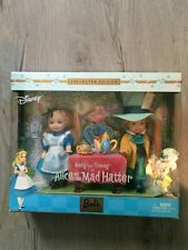 Disney's Barbie Collectible Kelly & Tommy as Alice & the Mad Hatter Never Open