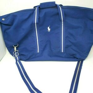 Polo Ralph Lauren Tote Blue Canvas Gym Bag with strap