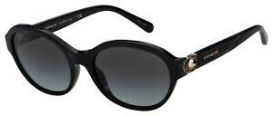 Coach Sunglasses HC 8293 50028G 57 Black   Grey Gradient Lens