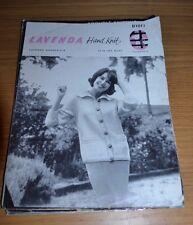 LAVENDA * DOUBLE-SIX * VINTAGE LADY'S JACKET KNITTING PATTERN * B1017