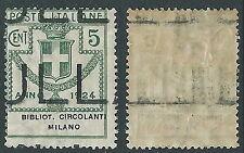 1924 REGNO ENTE PARASTATALE 5 CENT DEMONETIZZATO MNH ** - D7