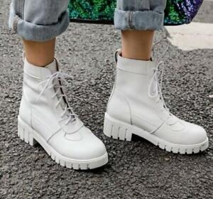 Women Autumn Punk Boots Female British Lace Up Short Tube Synthetic Boots