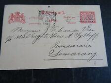 Nederlands Indië haltestempel BATANG op briefkaart G 14 naar Semarang 1903