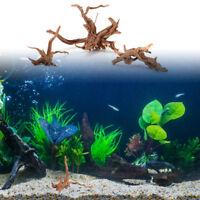 Natural Wood Trunk Driftwood Tree Aquarium Fish Tank Plant Stump JX