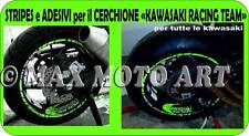 ADESIVI CERCHIONI MOTO wheels stickers kit per kawasaki racing team