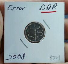 MAlaysia 5sen cents 2008  error coin DDR  rare!!! #221